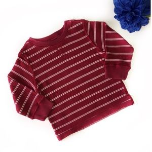 THE CHILDREN'S PLACE 3T RED / WHITE STRIPED LONG S